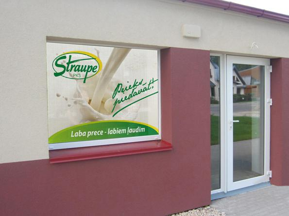 Promotional shop window stickers printing - Storefront Window Wraps- Digital Mouse Ltd Latvia